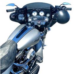 """Prewired"" 16"" Gloss Black ""ABS"" Bagger Bar Complete Handlebar Kit for 2008-2013 FLH Harley Touring"