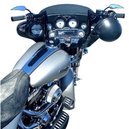 """Prewired"" 12"" Gloss Black ""ABS"" Bagger Bar Complete Handlebar Kit for 2008-2013 FLH Harley Touring"