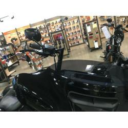 """PreWired"" Black Meathook Bagger Bar 12""-16"" 'ABS' Handlebar Kit For Harley Davidson FLH Touring  2017-2020"