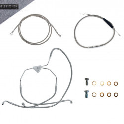 "Stainless ""ABS"" Cable Kit for 2008-2013 Harley Davidson Touring"