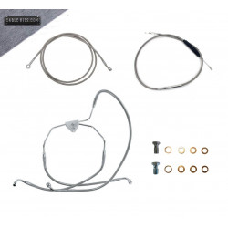 """Stainless """"ABS"""" Cable Kit for 2008-2013 Harley Davidson Touring"""