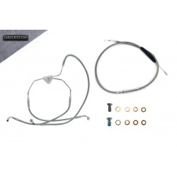 """Stainless """"Non ABS"""" Cable Kit for 2008-2013 Harley Davidson Touring"""