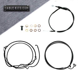 """Cable Kit  for 2021 Harley Davidson Touring Baggers with 18"""" Bars"""