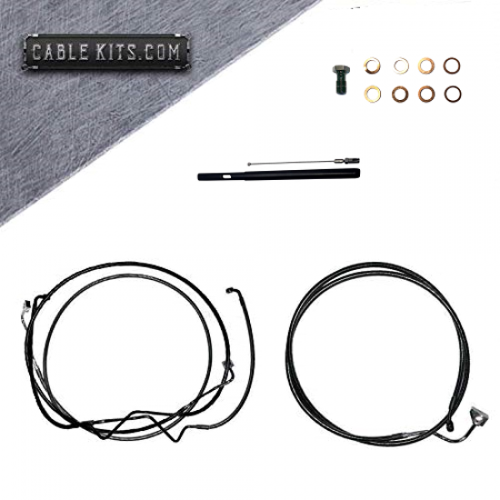 """Cable Kit  for 2021 Harley Davidson Touring Baggers with 14""""-16"""" Bars"""