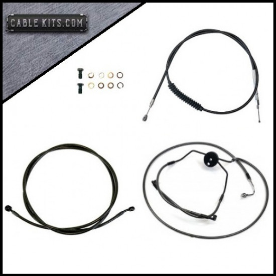 """Black """"ABS"""" Cable Kit for 2008-2013 Harley Davidson Touring"""