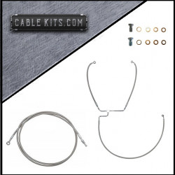 """NON ABS"" Stainless Cable Kit  for 2016-2019 Harley Davidson Touring"
