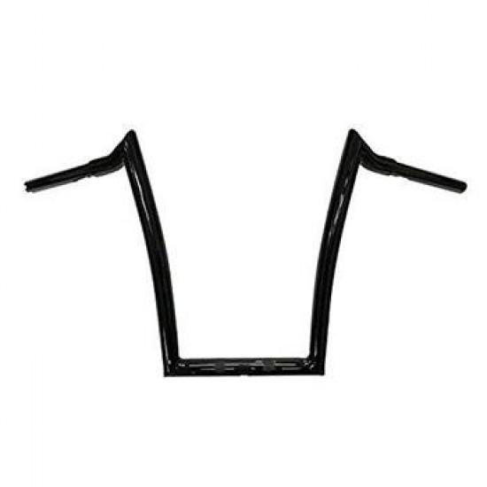 "Gloss Black Meathook ""Ape Hanger"" ABS Handlebar Kit 12""-18"" for 2016 Harley Davidson Road Glide"