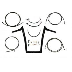 "Gloss Black Meathook ""Ape Hanger"" ABS Handlebar Kit 12""-18"" for 2015 Harley Davidson Road Glide"