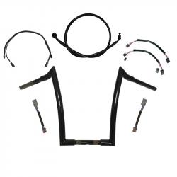 "Gloss Black 16"" Meathook Ape's Handlebar kit for 2020-2021 Harley Davidson Low Rider ""S"""